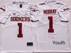 Oklahoma Sooners 1 Kyler Murray White Youth College Football Jersey