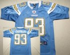 nfl San Diego Chargers #93 Castillo lt,blue