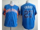 mlb 2013 all star jerseys los angeles angels #27 mike trout blue