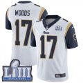 Nike Rams #17 Robert Woods White 2019 Super Bowl LIII Vapor Untouchable Limited Jersey