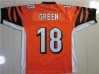 nfl Cincinnati Bengals #18 green orange