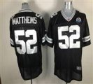 Nike Packers #52 Clay Matthews Black With Hall of Fame 50th Patch NFL Elite Jersey