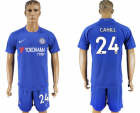 2017-18 Chelsea 24 CAHILL Home Soccer Jersey