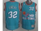 nba 96 all star #32 oneal blue