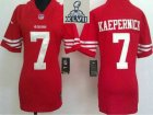 2013 Super Bowl XLVII Women NEW San Francisco 49ers #7 Colin Kaepernick Red Jerseys