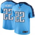 Youth Nike Tennessee Titans #22 Derrick Henry Light Blue Stitched NFL Limited Rush Jersey