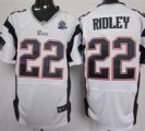 Nike Patriots #22 Stevan Ridley White With Hall of Fame 50th Patch NFL Elite Jersey