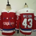 Capitals #43 Tom Wilson Red Adidas Jersey