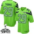 Nike Seattle Seahawks #29 Earl Thomas Green Alternate Super Bowl XLVIII Youth Stitched NFL Elite Jersey