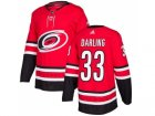 Men Adidas Carolina Hurricanes #33 Scott Darling Red Home Authentic Stitched NHL Jersey