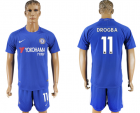 2017-18 Chelsea 11 DROGBA Home Soccer Jersey