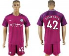 2017-18 Manchester City 42 TUORE YAYA Away Soccer Jersey