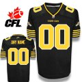 CFL Custom Hamilton Tiger-Cats Premier TC Black Football Jersey