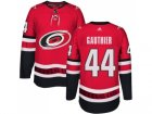 Men Adidas Carolina Hurricanes #44 Julien Gauthier Authentic Red Home NHL Jersey