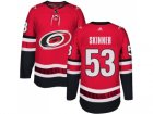 Men Adidas Carolina Hurricanes #53 Jeff Skinner Authentic Red Home NHL Jersey