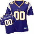 Customized Minnesota Vikings Jersey Women Team Color Football