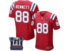 Mens Nike New England Patriots #88 Martellus Bennett Elite Red Alternate Super Bowl LI Champions NFL Jersey
