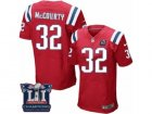 Mens Nike New England Patriots #32 Devin McCourty Elite Red Alternate Super Bowl LI Champions NFL Jersey