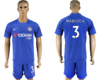 2017-18 Chelsea 3 MARCOS A. Home Soccer Jersey