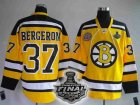 nhl boston bruins #37 bergeron yellow[2011 stanley cup]