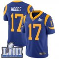 Nike Rams #17 Robert Woods Royal 2019 Super Bowl LIII Vapor Untouchable Limited Jersey