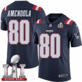 Youth Nike New England Patriots #80 Danny Amendola Limited Navy Blue Rush Super Bowl LI 51 NFL Jersey