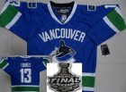 nhl vancouver canucks #13 torres blue[2011 stanley cup]