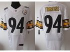 Nike NFL Pittsburgh Steelers #94 Lawrence Timmons White Elite Jerseys