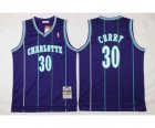 nba new orleans hornets #30 curry purple(stripe)[curry]
