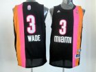 nba miami heat #3 wade blackorange[2012 new][miami]