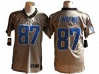 Nike NFL Indianapolis Colts #87 Reggie Wayne Grey Jerseys(Shadow Elite)