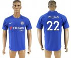 2017-18 Chelsea 22 WILLIAN Home Thailand Soccer Jersey