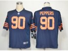 Nike NFL chicago bears #90 peppers blue throwback Game Jerseys