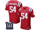 Mens Nike New England Patriots #54 Donta Hightower Elite Red Alternate Super Bowl LI Champions NFL Jersey