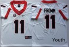 Georgia Bulldogs #11 Jake Fromm White Youth Nike College Football Jersey
