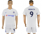 2017-18 Chelsea 9 MORATA Away Soccer Jersey
