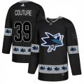 Sharks #39 Logan Couture Black Team Logos Fashion Adidas Jersey