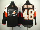 nhl philadelphia flyers #48 briere black