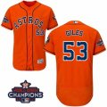 Astros #53 Ken Giles Orange Flexbase Authentic Collection 2017 World Series Champions Stitched MLB Jersey