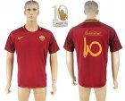 2017-18 Roma 10 TOTTI Retirement Commemorative Home Thailand Soccer Jersey