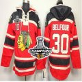 nhl jerseys chicago blackhawks #30 belfour red[pullover hooded sweatshirt][2013 Stanley cup champions]