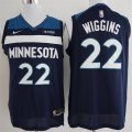 Timberwolves #22 Andrew Wiggins Navy Authentic Jersey