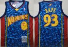 Warriors #93 Bape Blue 2009-10 Hardwood Classics Jersey