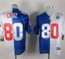 Nike Giants #80 Victor Cruz Royal With Hall of Fame 50th Patch NFL Elite Jersey