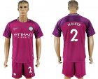 2017-18 Manchester City 2 WALKER Away Soccer Jersey