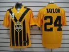 Nike NFL Pittsburgh Steelers #24 Taylor Yellow Colors 1933s Throwback Elite Jerseys