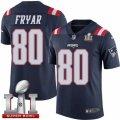 Youth Nike New England Patriots #80 Irving Fryar Limited Navy Blue Rush Super Bowl LI 51 NFL Jersey