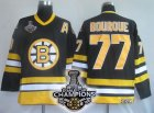 nhl boston bruins #77 bourque black(A)[2011 stanley cup champion