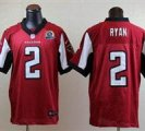 Nike Falcons #2 Matt Ryan Red With Hall of Fame 50th Patch NFL Elite Jersey