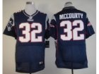 Nike NFL New England Patriots #32 Devin McCourty Blue Jerseys(Elite)